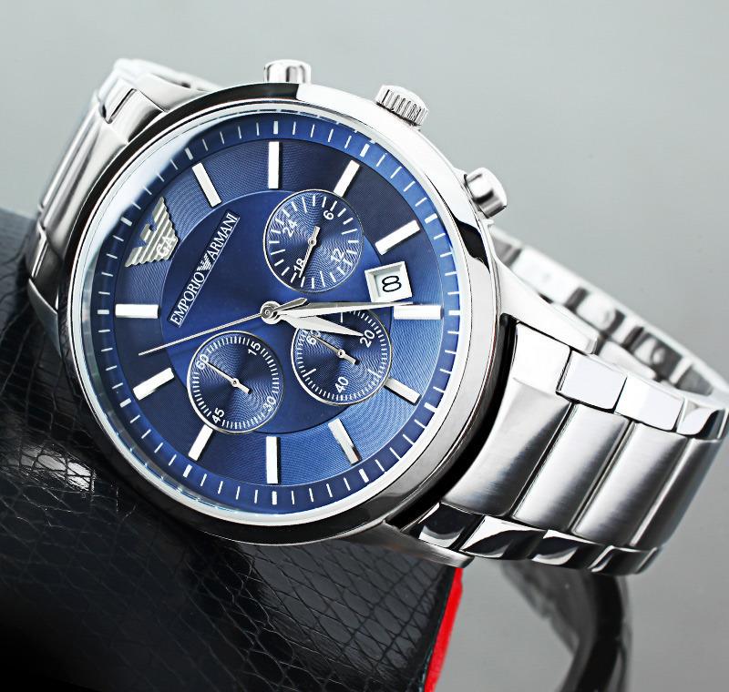 men 39 s watches emporio armani men watch chronograph navy. Black Bedroom Furniture Sets. Home Design Ideas